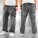 Dangerous DNGRS Dog Baggy Jeans  Grey