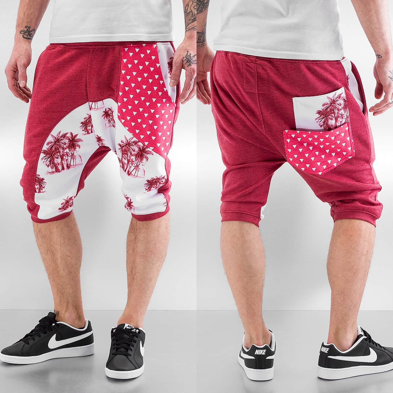 Just Rhyse Palms Shorts  Red