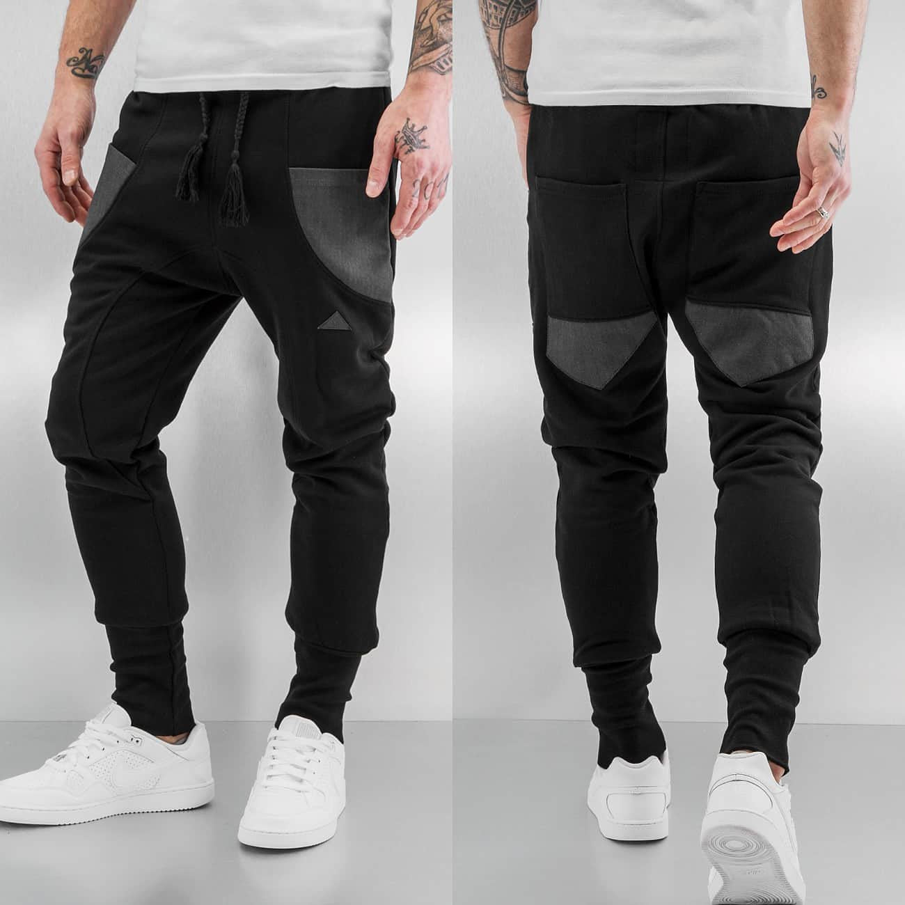 Bangastic Herringbone Sweat Pants  Black