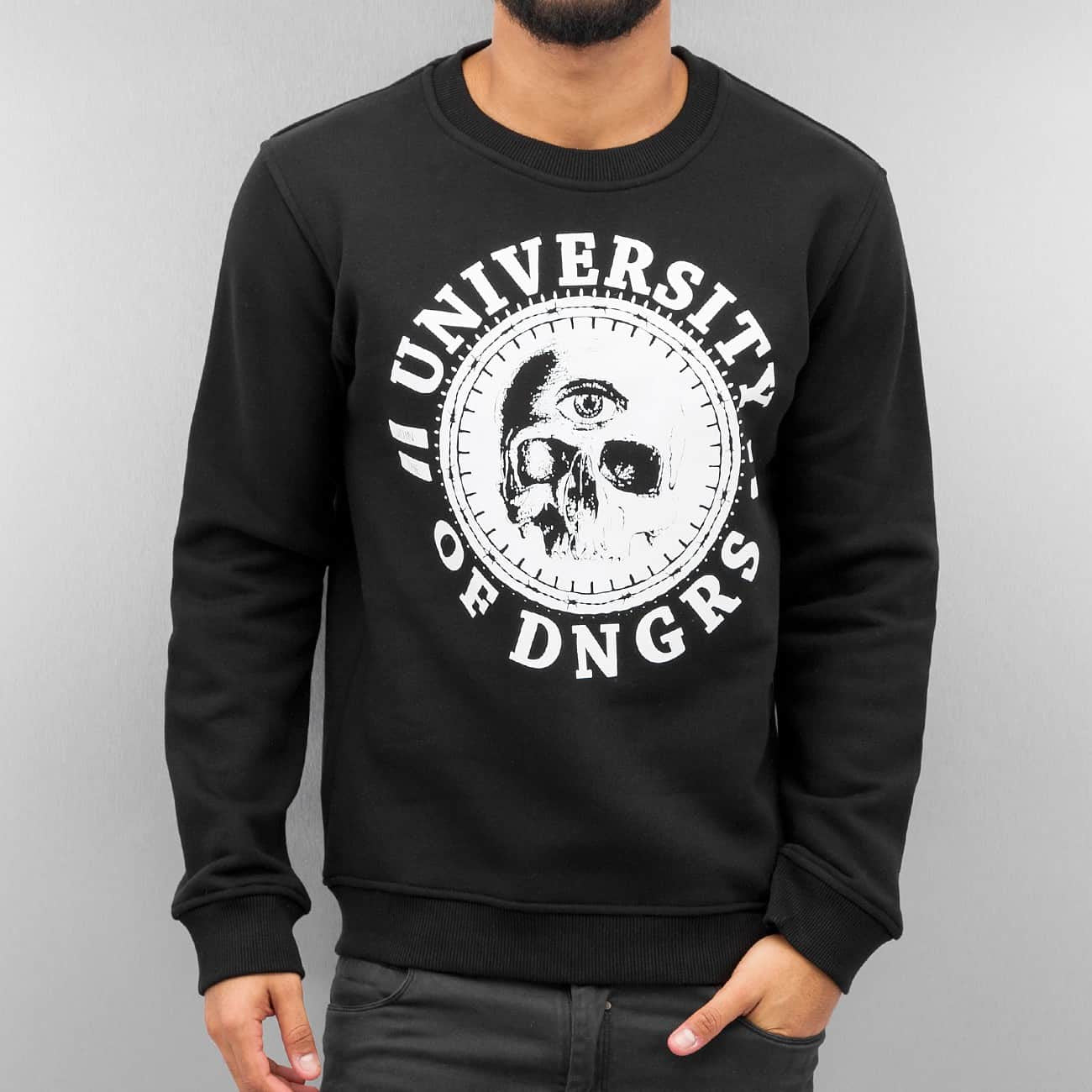 Dangerous DNGRS University Of DNGRS Sweatshirt Black Black