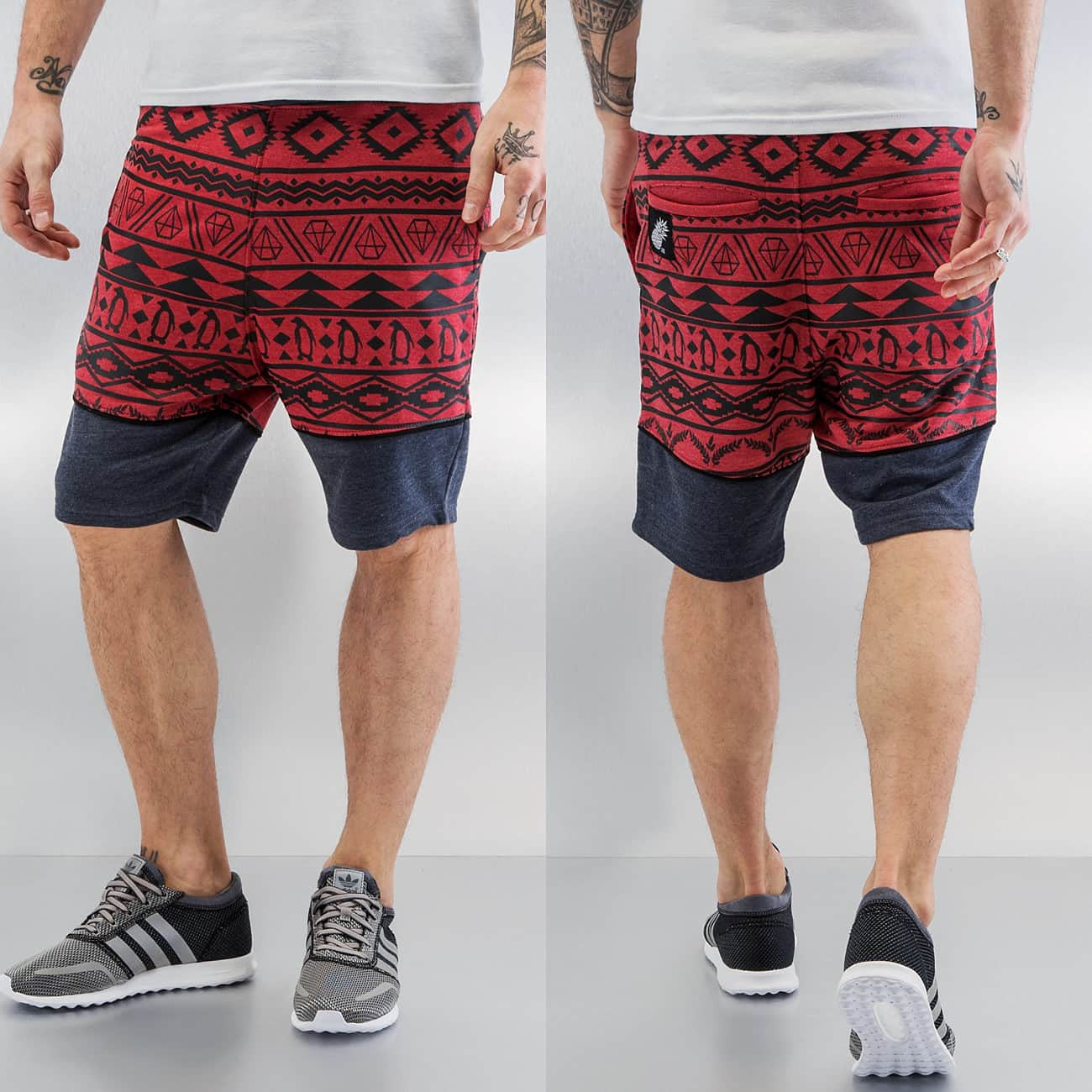 Just Rhyse Penguin Shorts Wine  Red