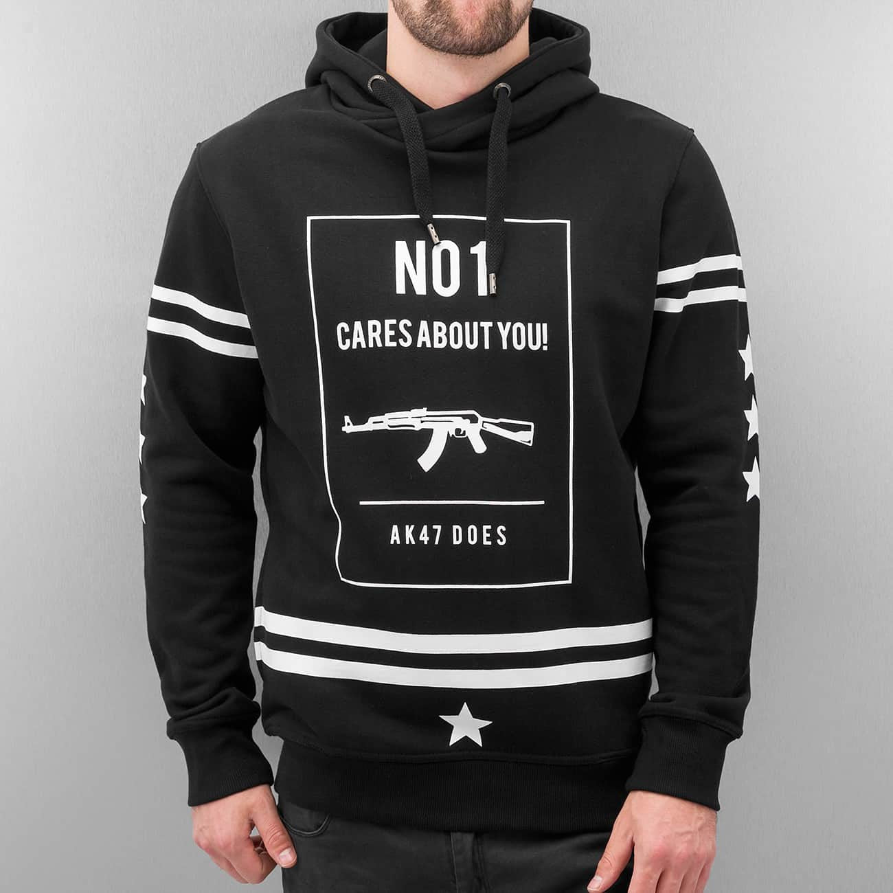 Dangerous DNGRS Cares About You Hoody Black Black