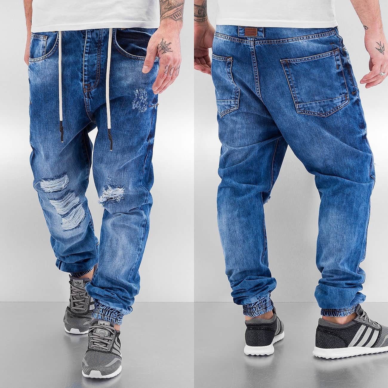 Just Rhyse Luke Antifit Jeans  Blue