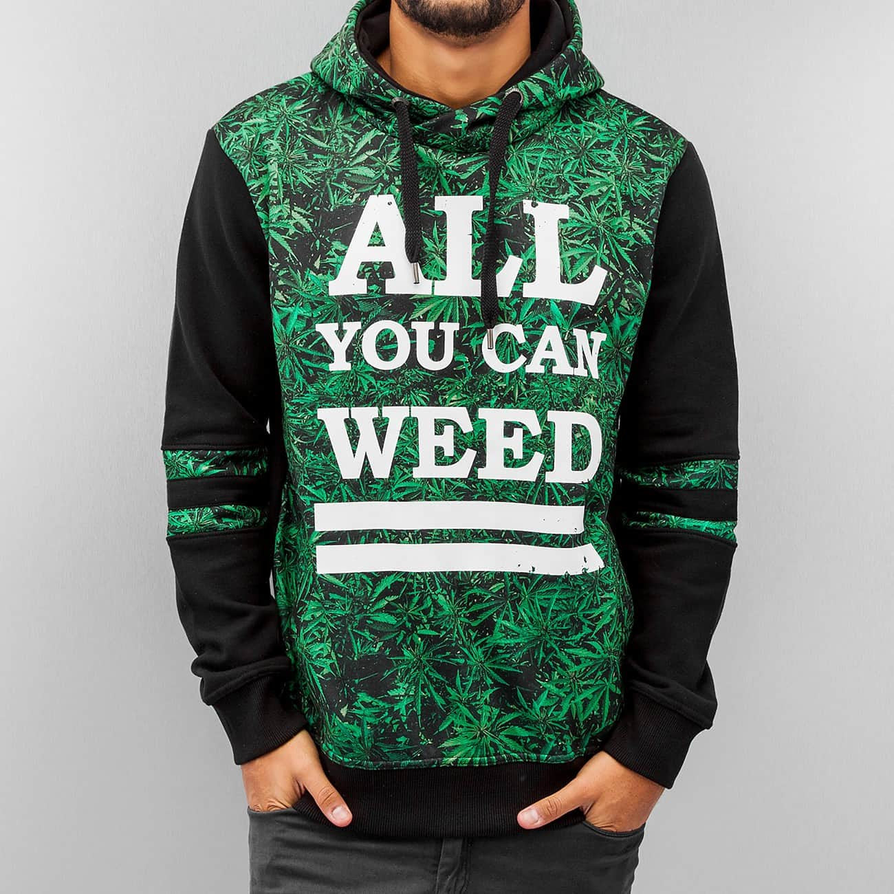 Dangerous DNGRS All You Can Weed Hoody Black Black