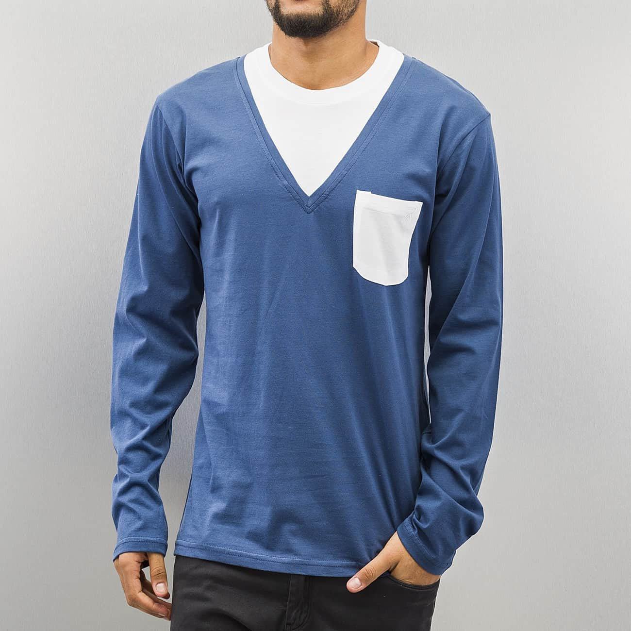 Cazzy Clang Breast Pocket Longsleeve  Blue