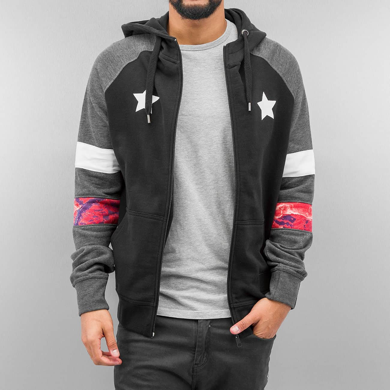 Just Rhyse Toulon Zip Hoody  Black