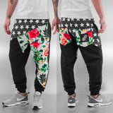 Just Rhyse Stars  Flowers Sweat Pants  Black