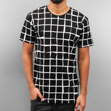 Cazzy Clang Checked T-Shirt  Black