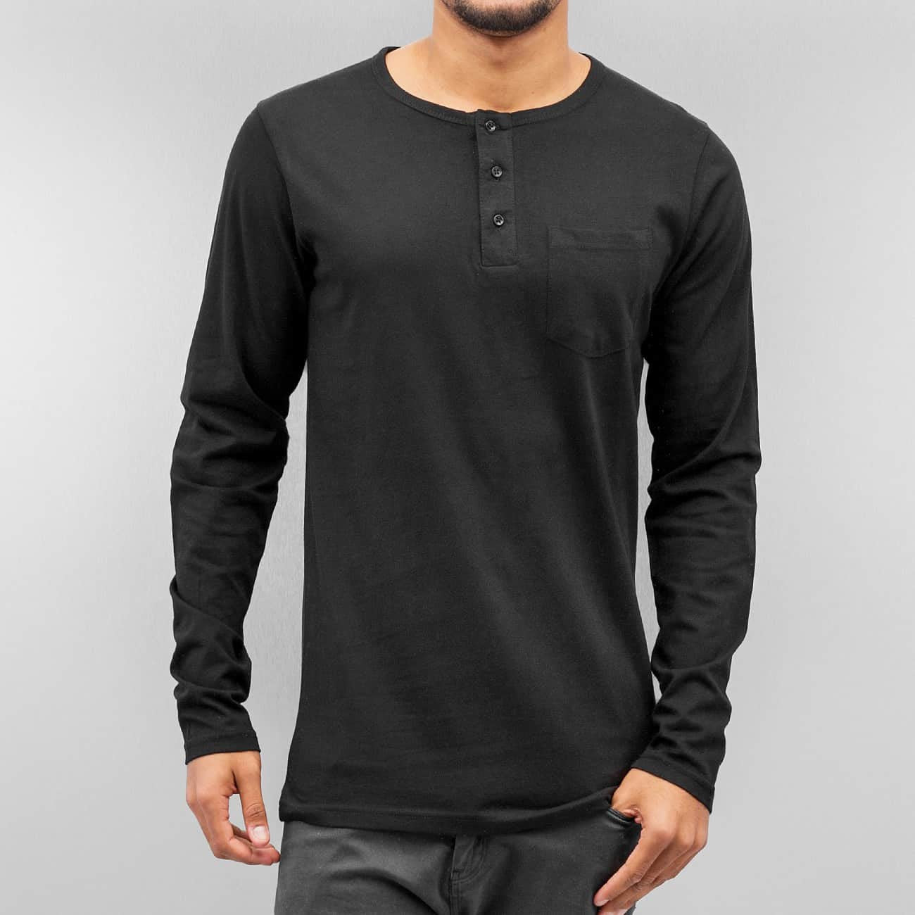Cyprime Placket Longsleeve  Black
