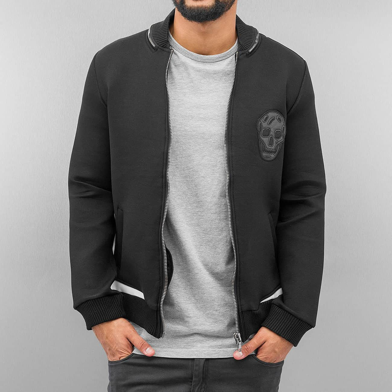 Bangastic Skull Zip Sweat Jacket  Black