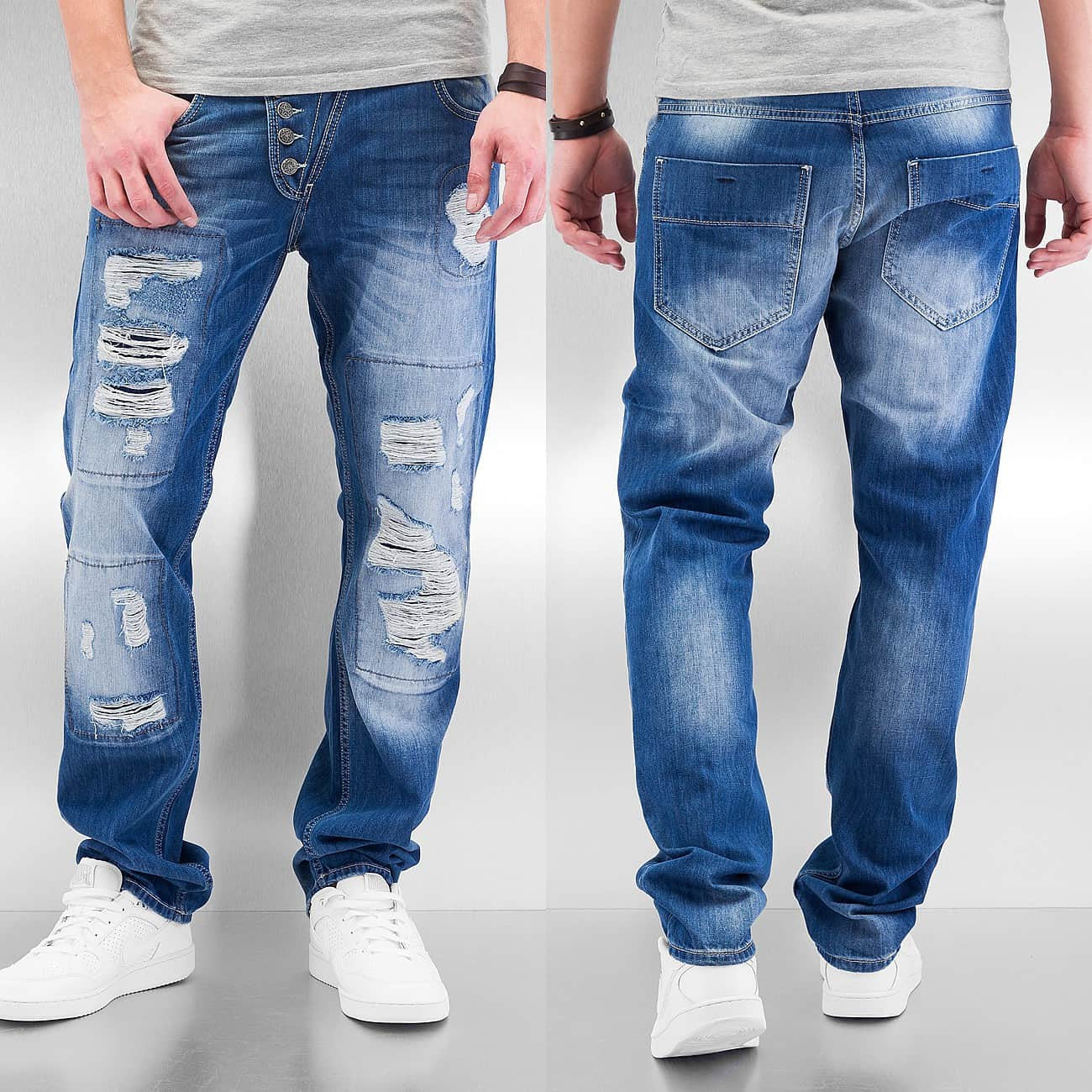 Just Rhyse Ilay Straight Fit Jeans  Blue