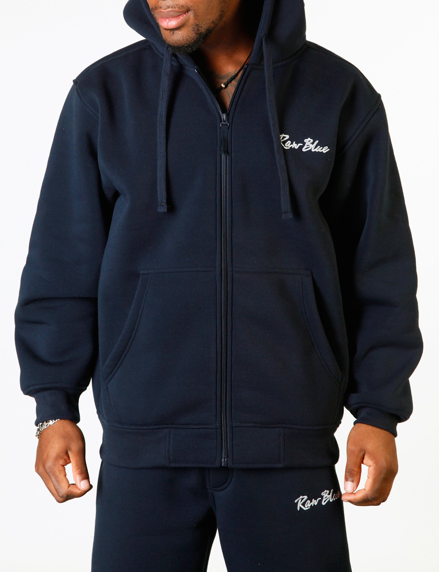 Signature Zip Hoody EF-4572 Navy