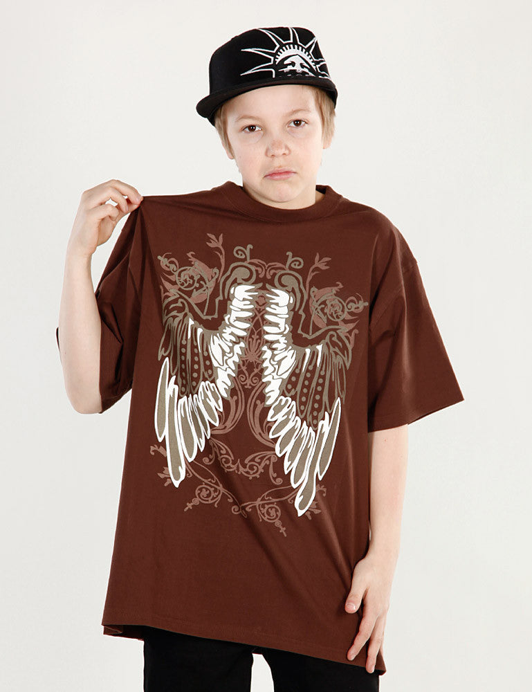 Kids Wing Tee Brown