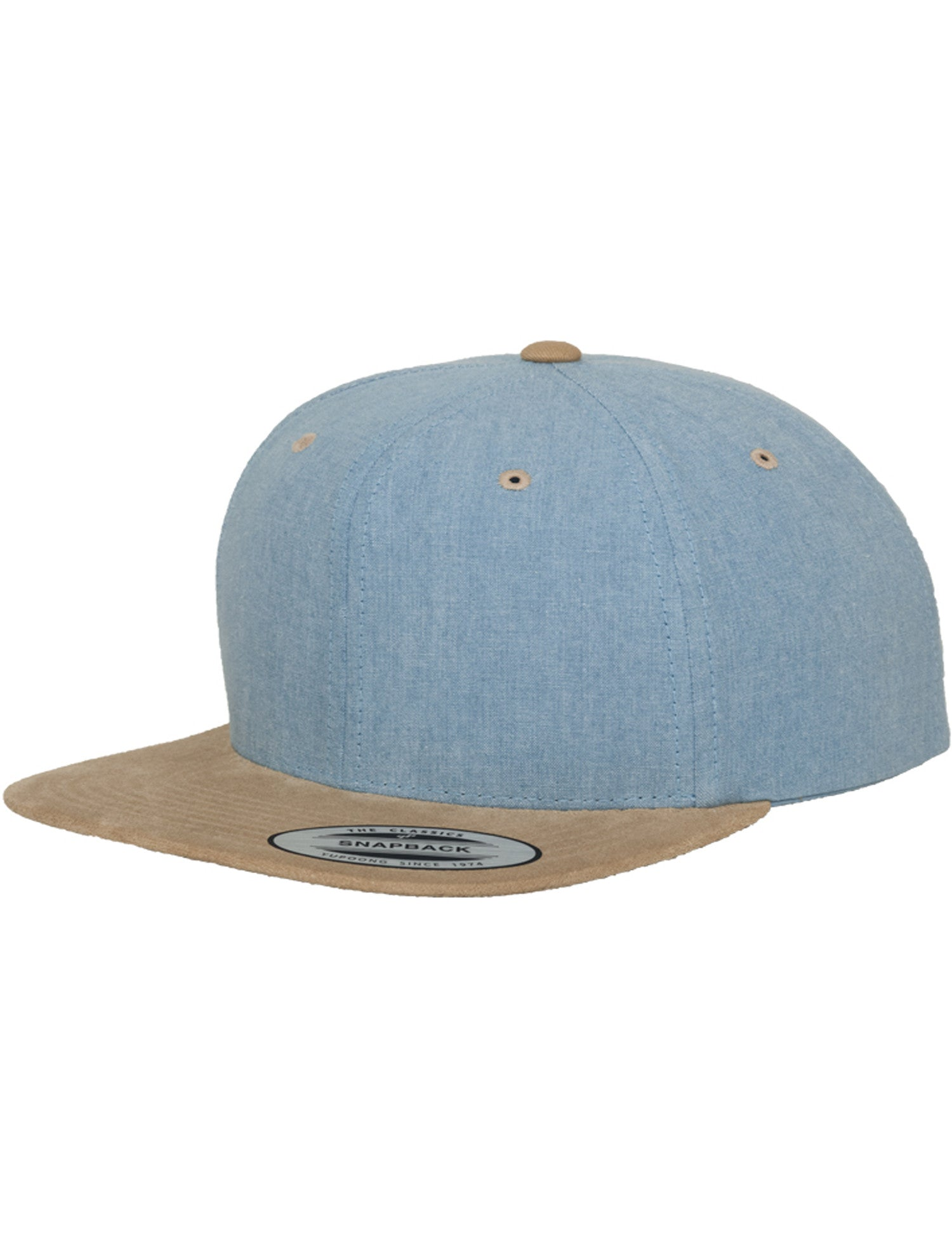 CHAMBRAY-SUEDE SNAPBACK CAPS Blue