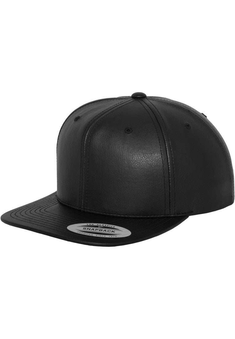 Flexfit Full Leather Snapback 6089FL Black