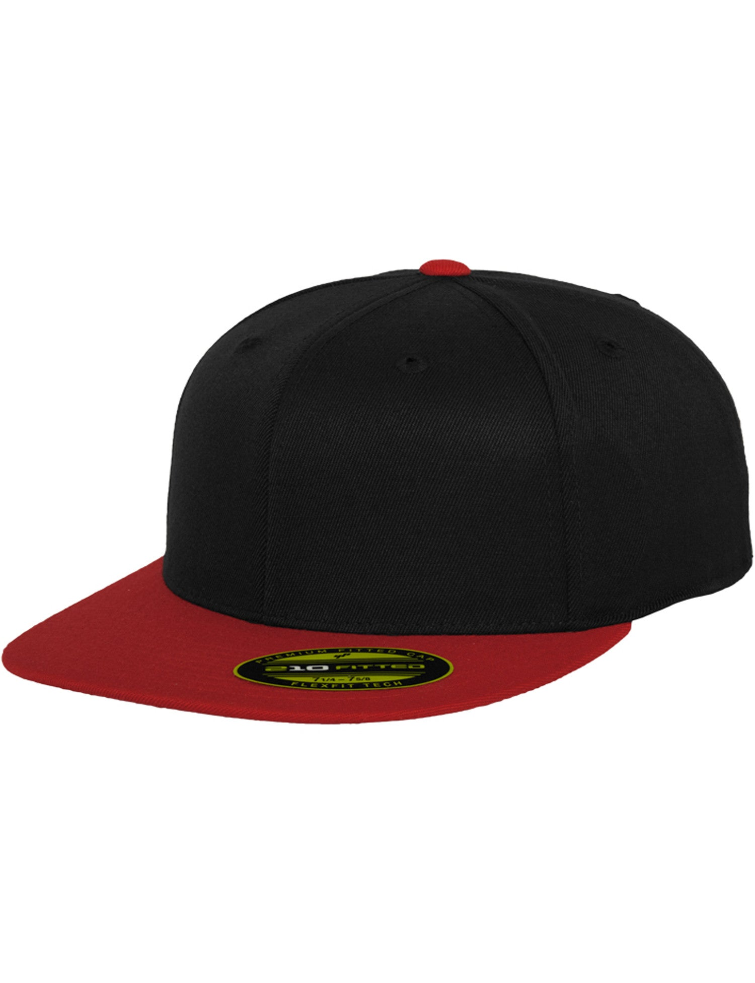 PREMIUM 210 FITTED 2-TONED CAPS Black