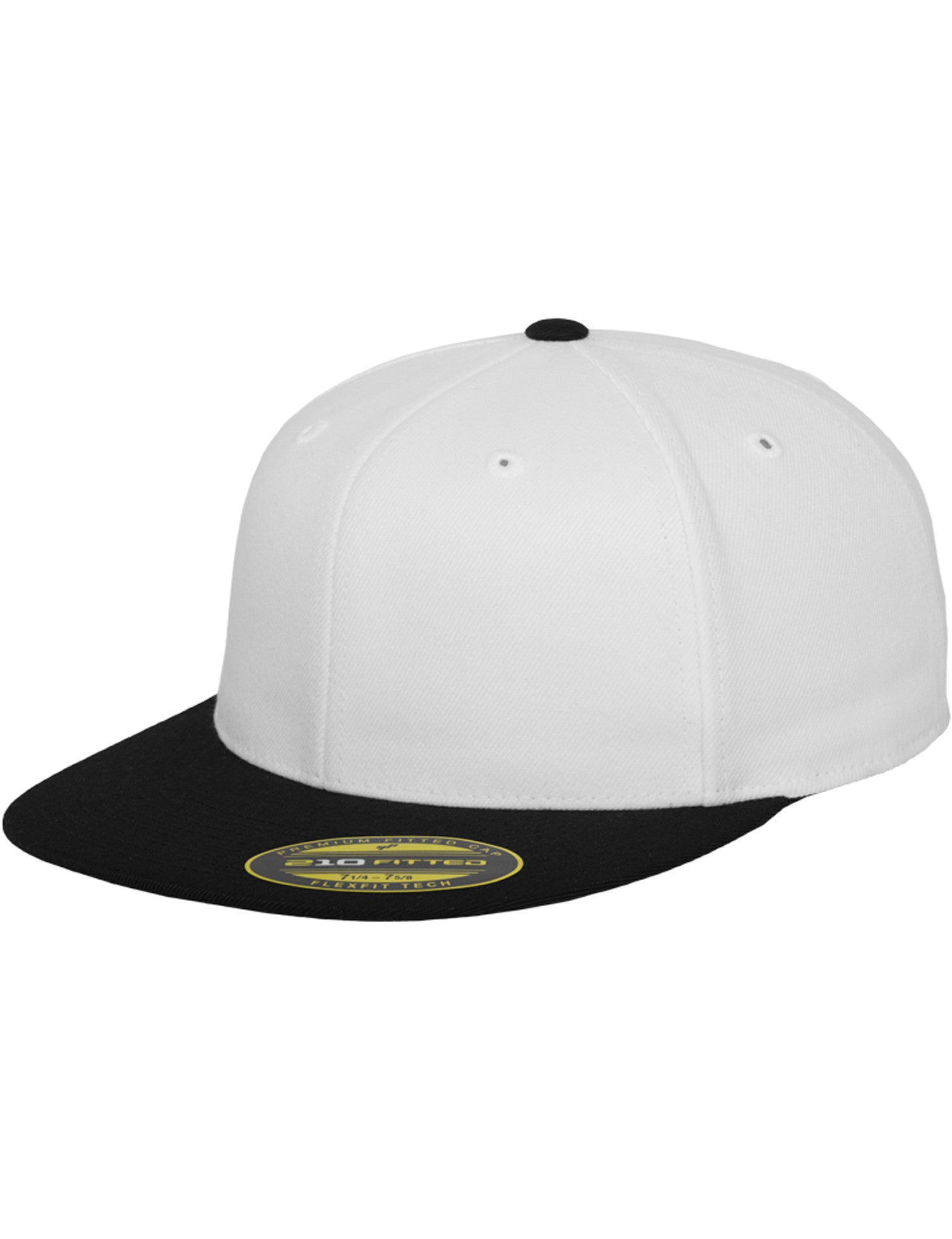 PREMIUM 210 FITTED 2-TONED CAPS White