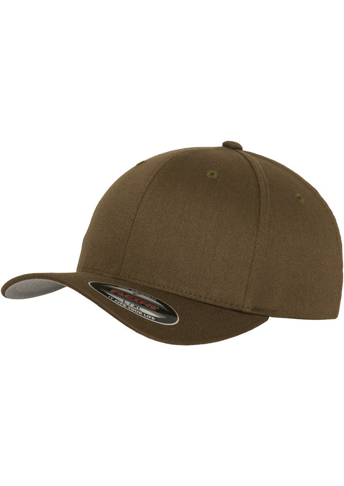 Flexfit Wooly Combed Cap Olive 6277 Green