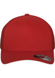 Flexfit Mesh Cotton Twill Trucker Cap 6511 Red