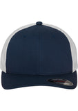 Flexfit Mesh Cotton Twill Trucker 2-Tone Cap 6511T Navy
