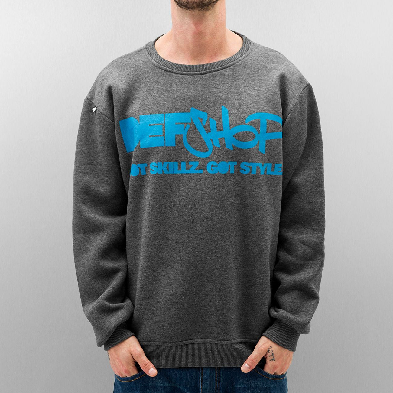 Dangerous DNGRS Got Skillz Got Style Sweatshirt Charcoal Heather/Blue Grey
