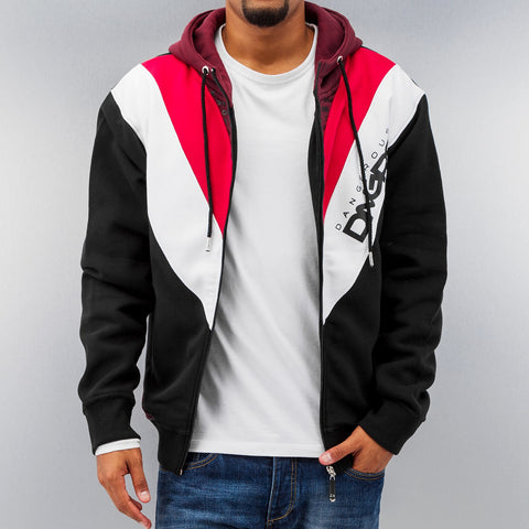 Dangerous DNGRS Arrowhead Zip Hoody Black/Red/White Black