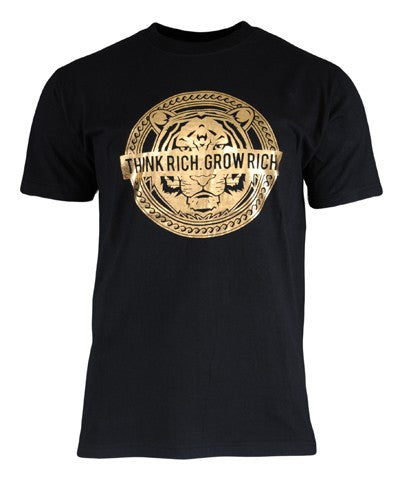Surr Mens Gold Stamp Tee Black