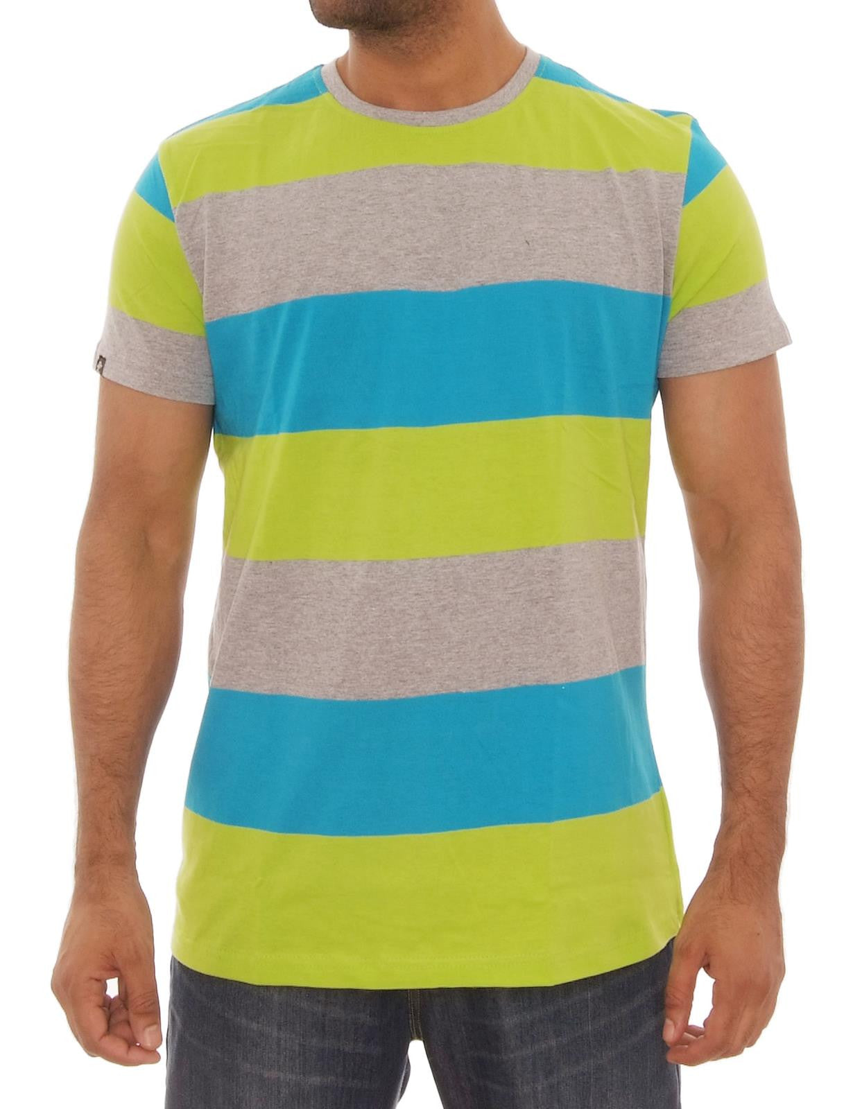 Single Jersey Stripe T-Shits Lime green