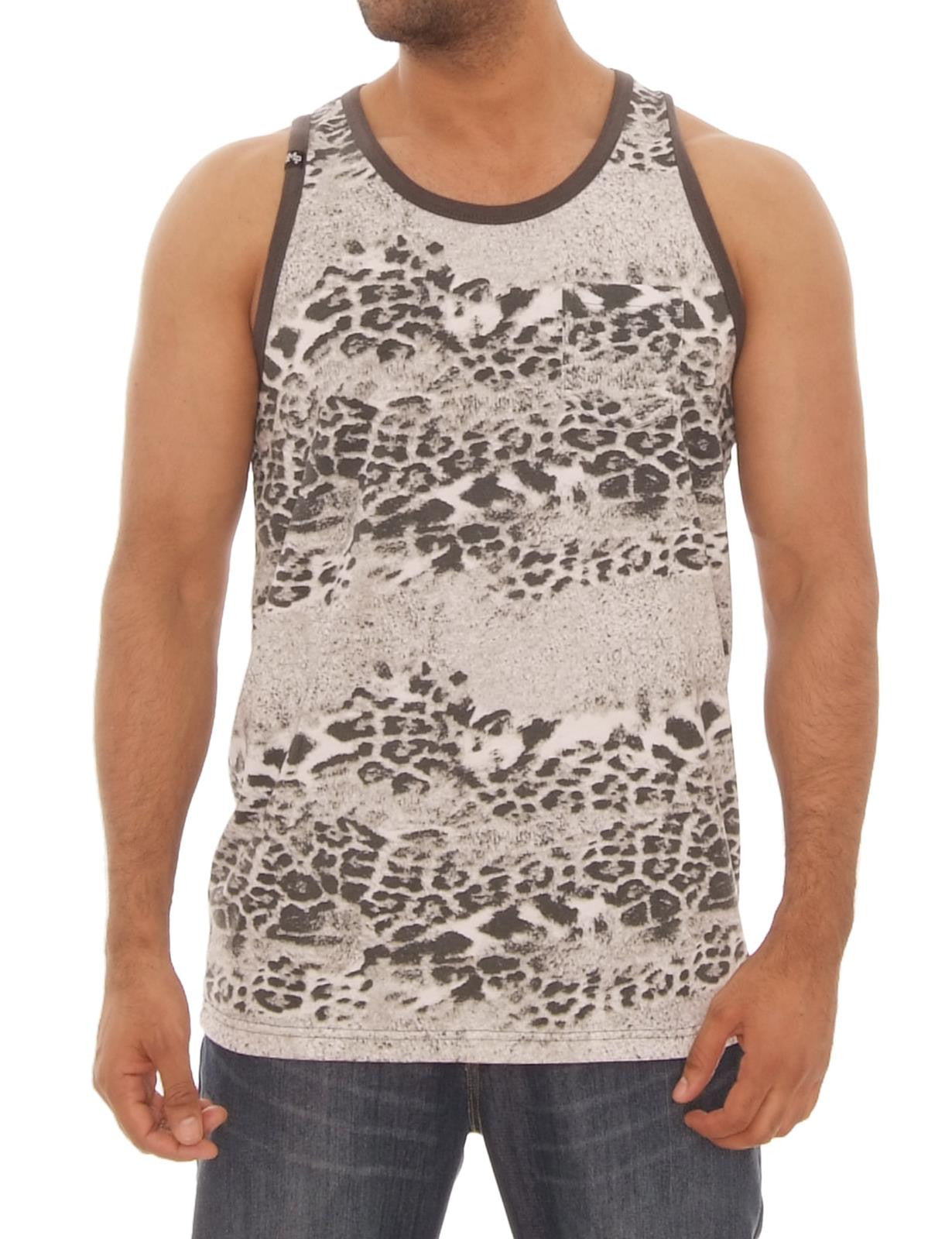 Animal Print Tank Top Brown