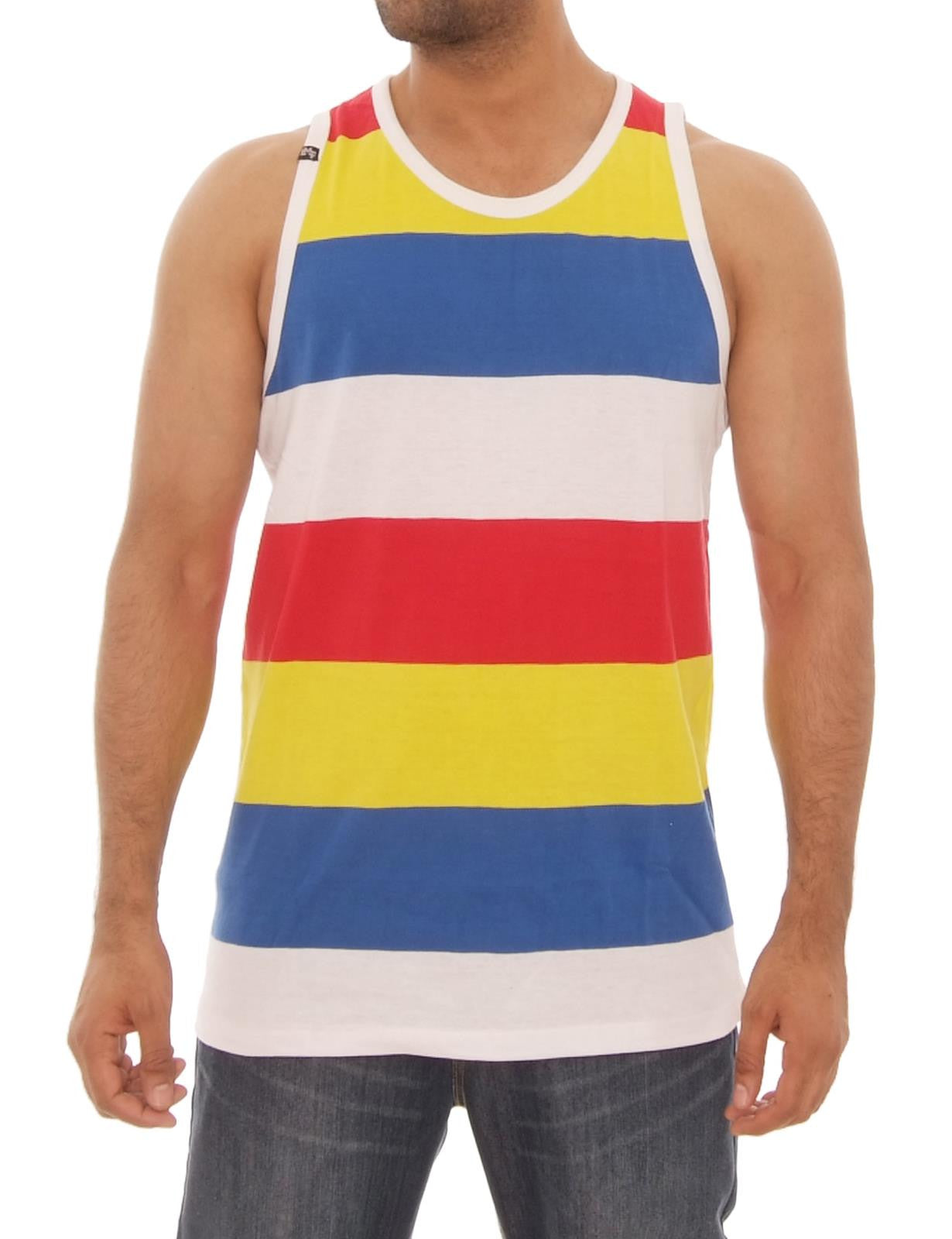 Yarn Dye Stripe Tank Top Red