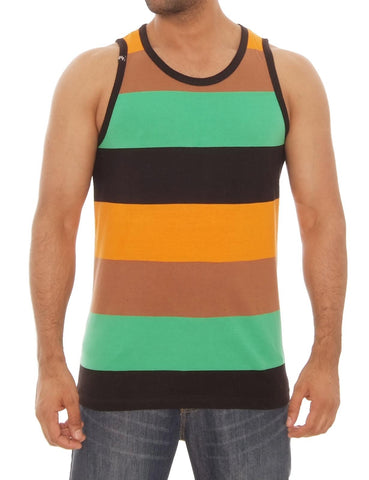 Yarn Dye Stripe Tank Top Orange