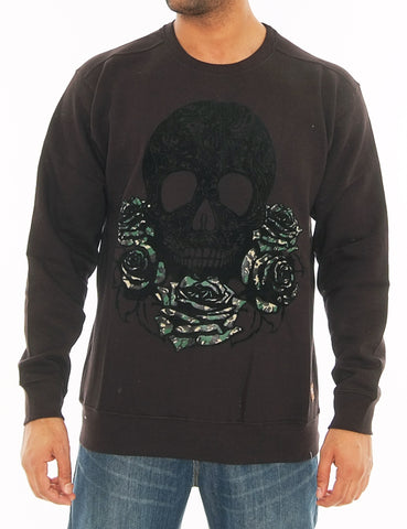 Crewneck Sweatshirt With Print Black