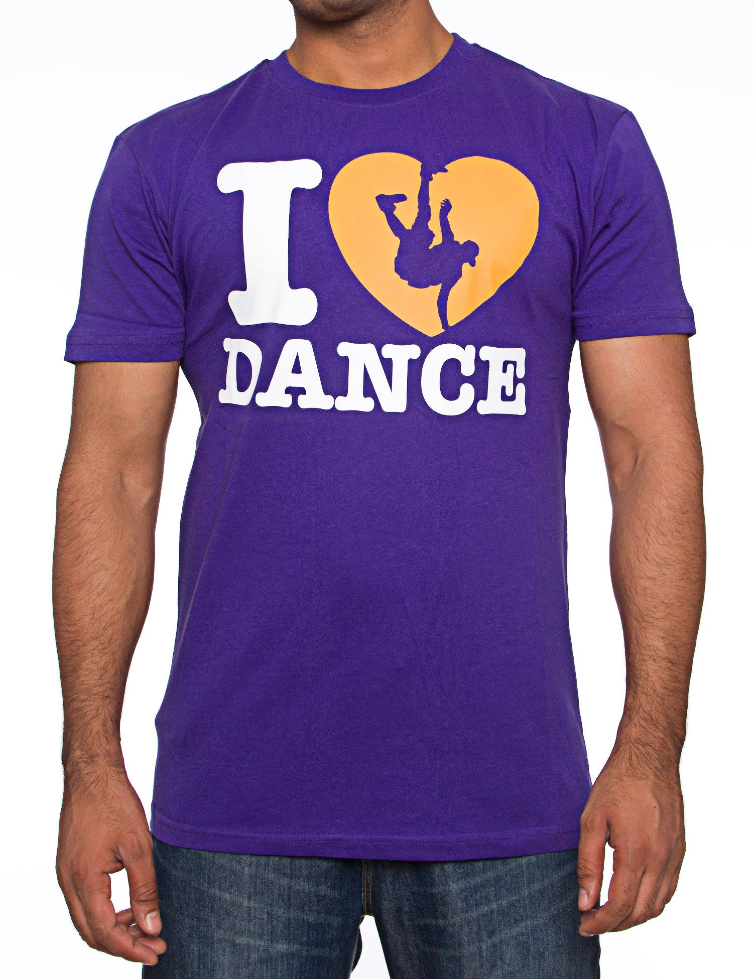 I Love Dance Tee Purple