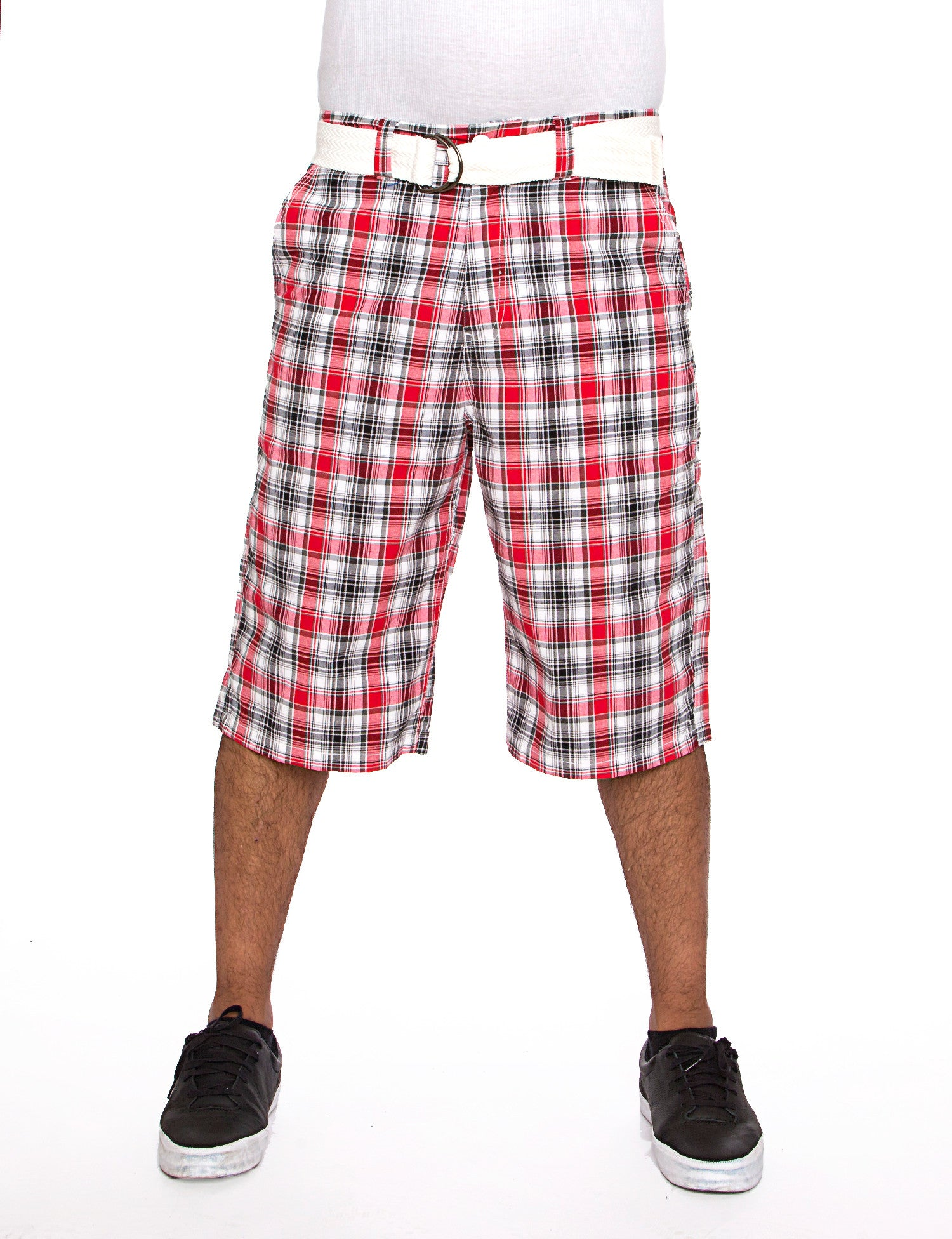Plaid Shorts Red