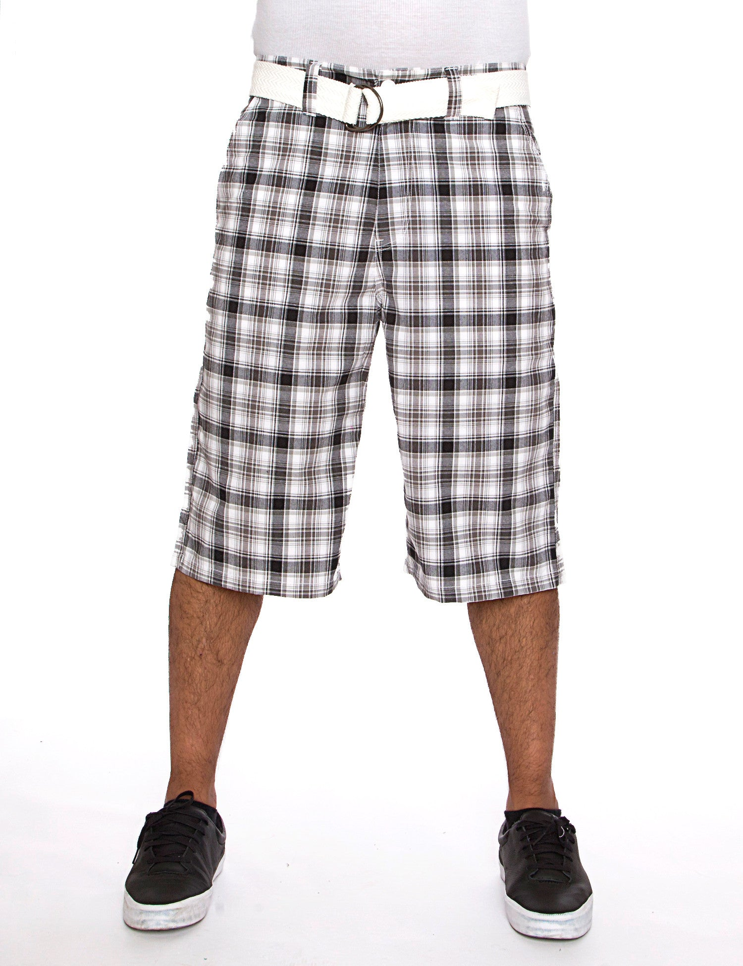 Plaid Short Black