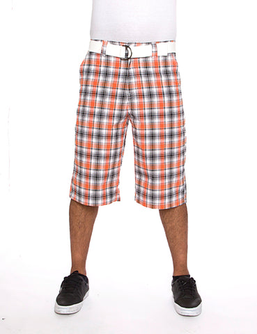 Plaid Short Orange