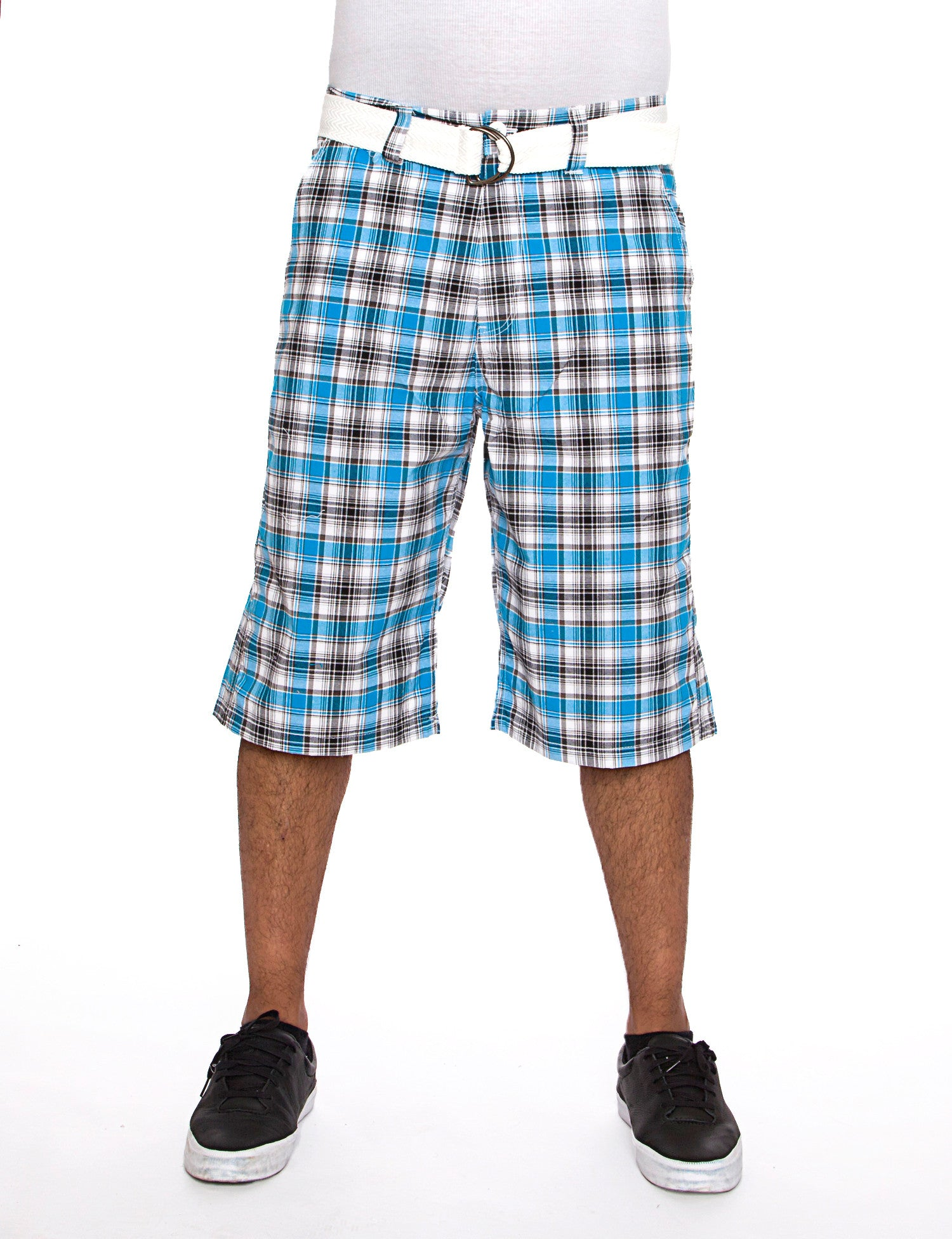 Raw Blue Shorts Mens Plaid Short Blue