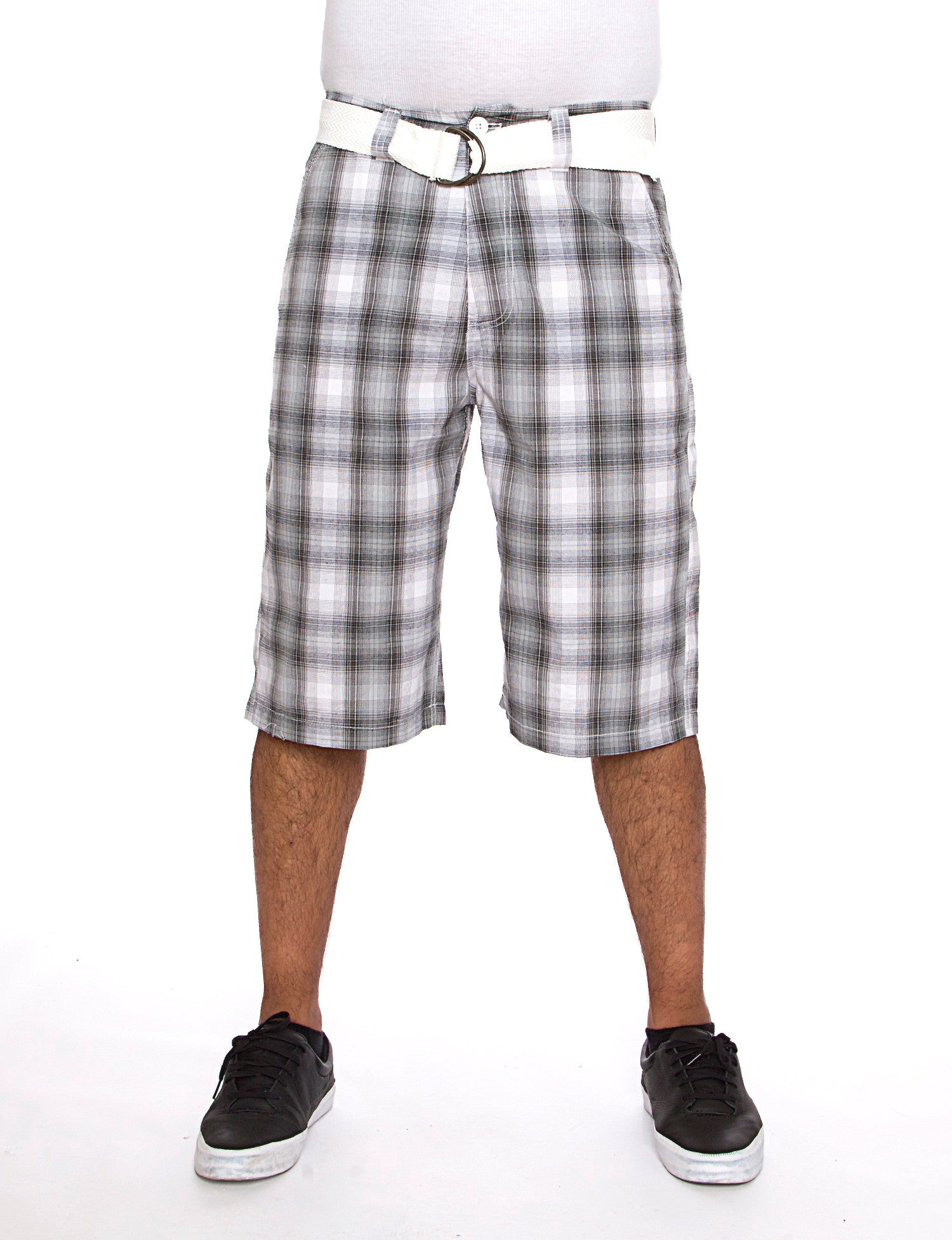 Plaid Shorts Black