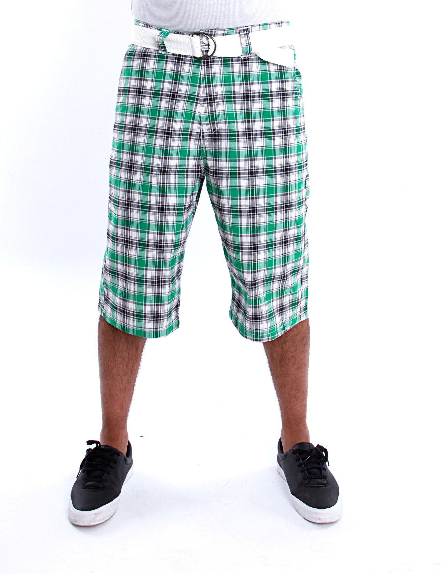 Plaid Shorts Green