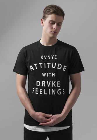 Attitude and Feelings Tee  Black