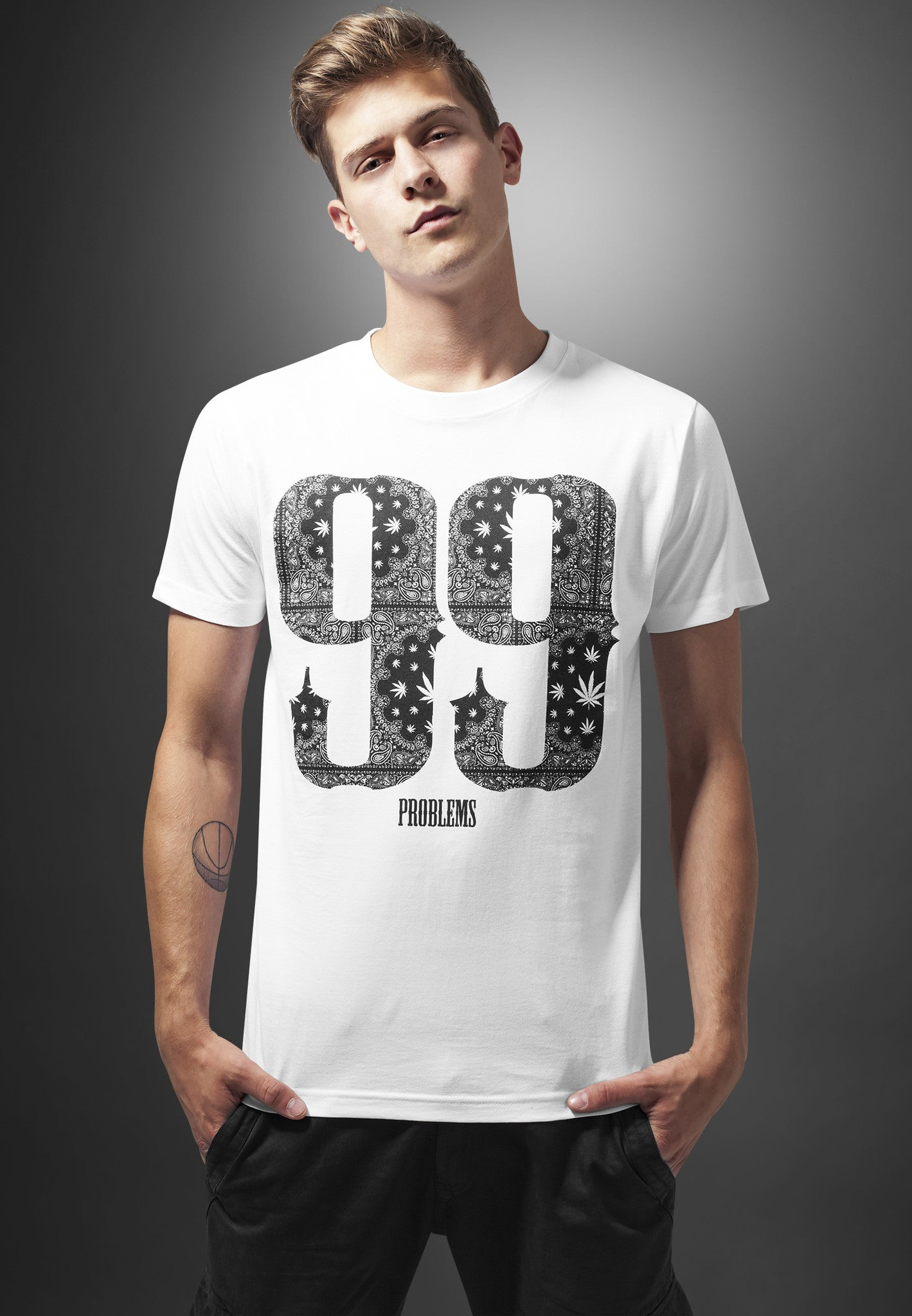 99 Problems Bandana Tee  White