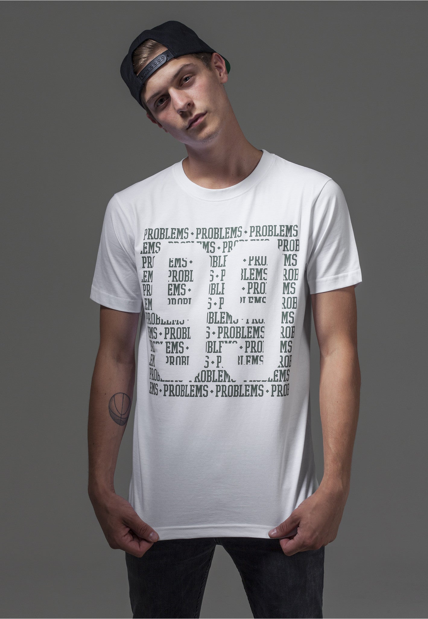 99 Problems Lines Tee  White