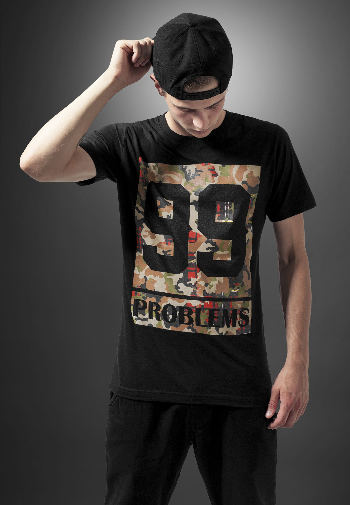 99 Problems Block Camo  Black