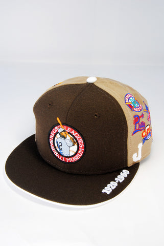 Negro League All Over Team Cap Brown
