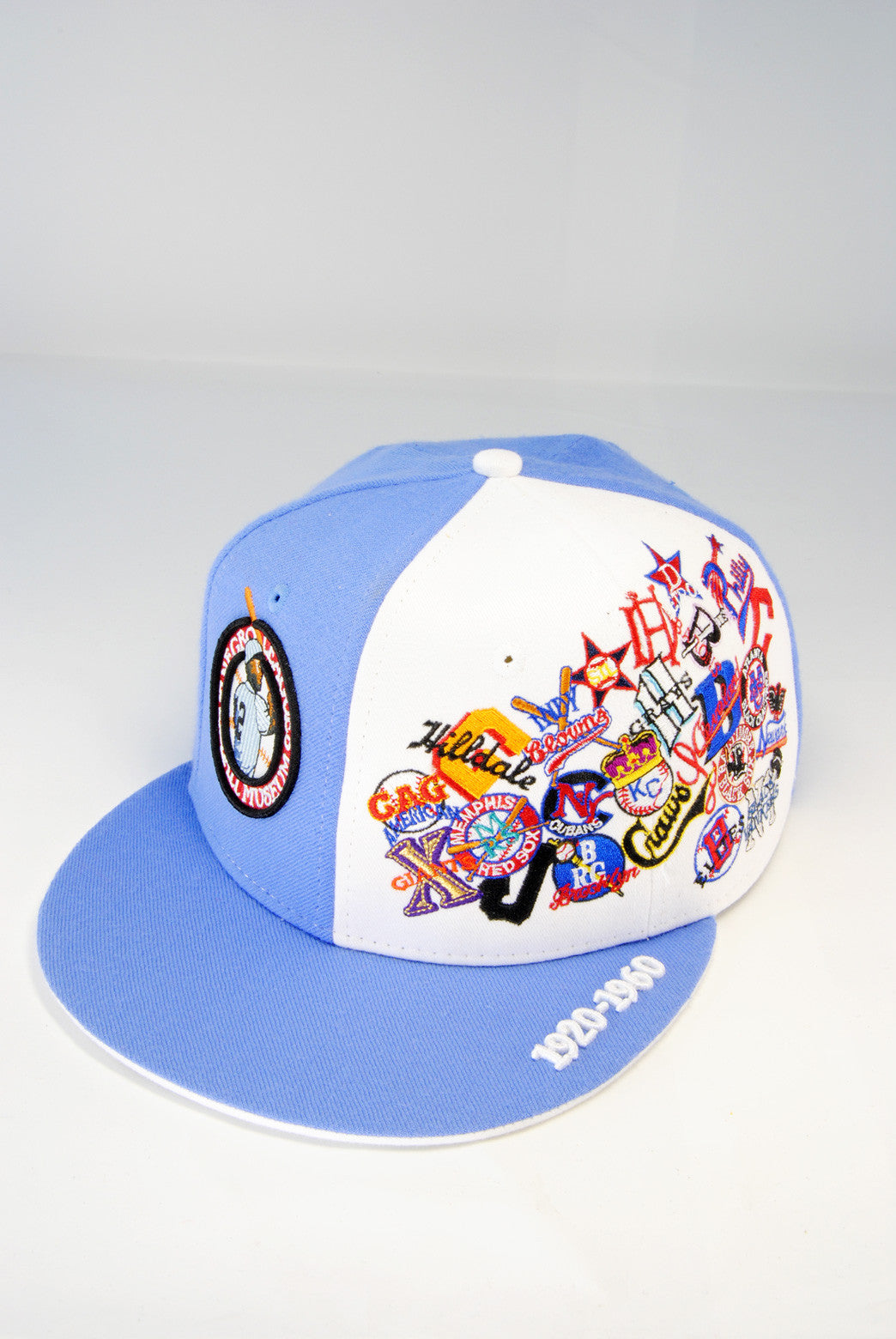 Negro League All Over Team Side Cap Light Blue