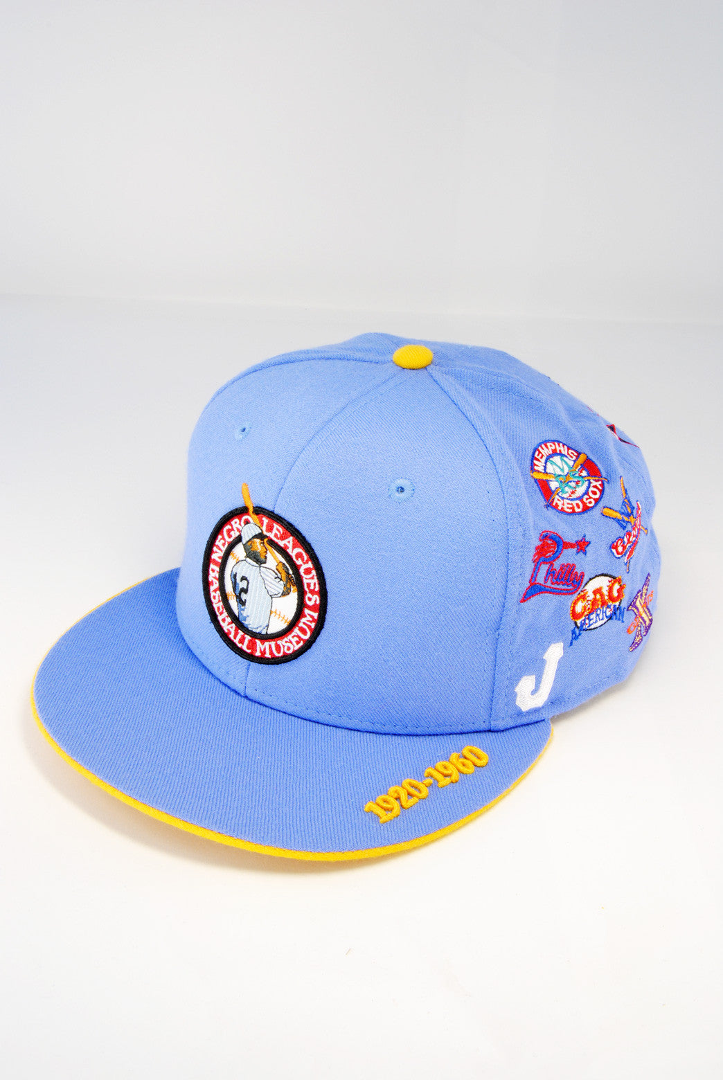 Negro League All Over Team Cap Light Blue