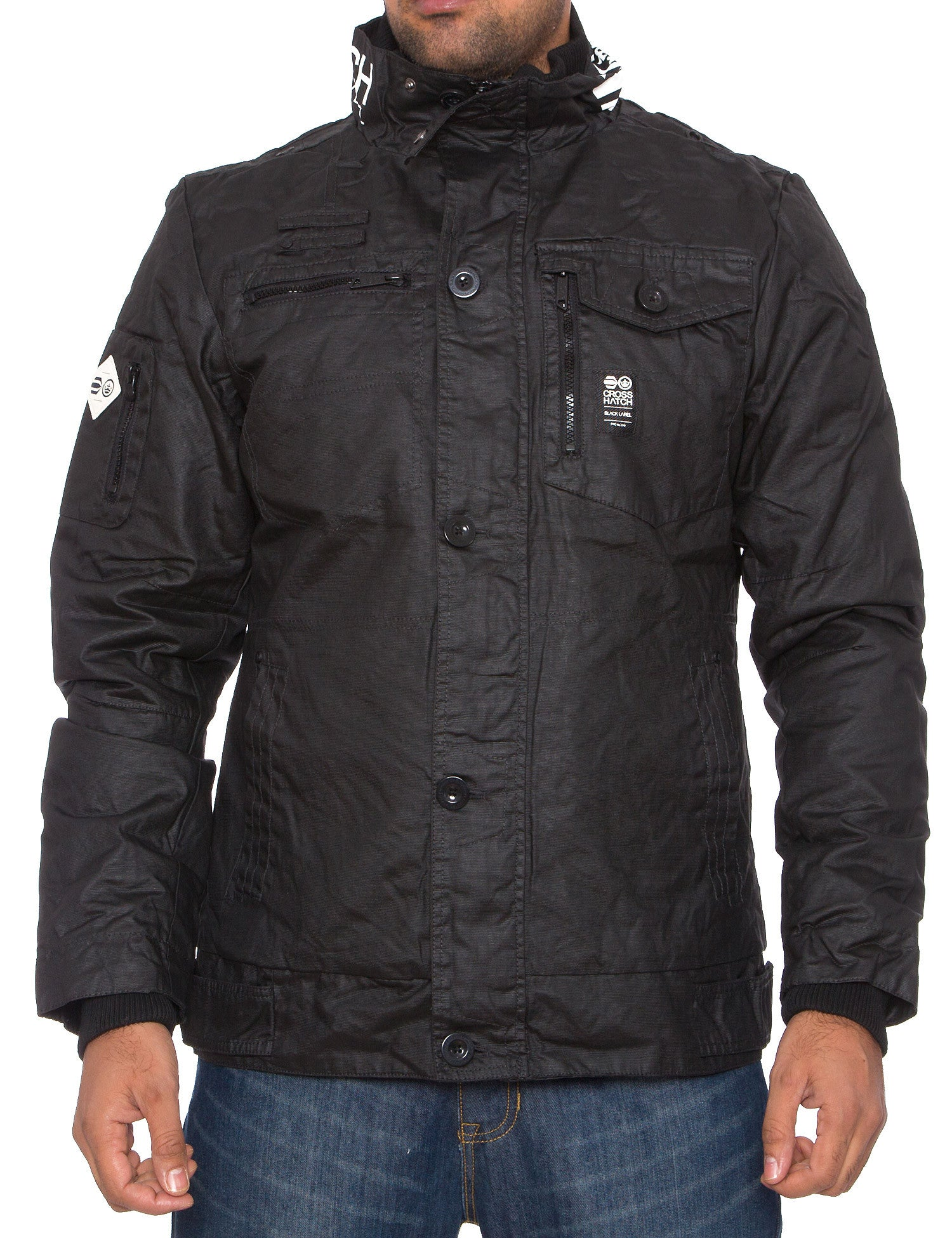 Crosshatch Plixxie Jacket  Black