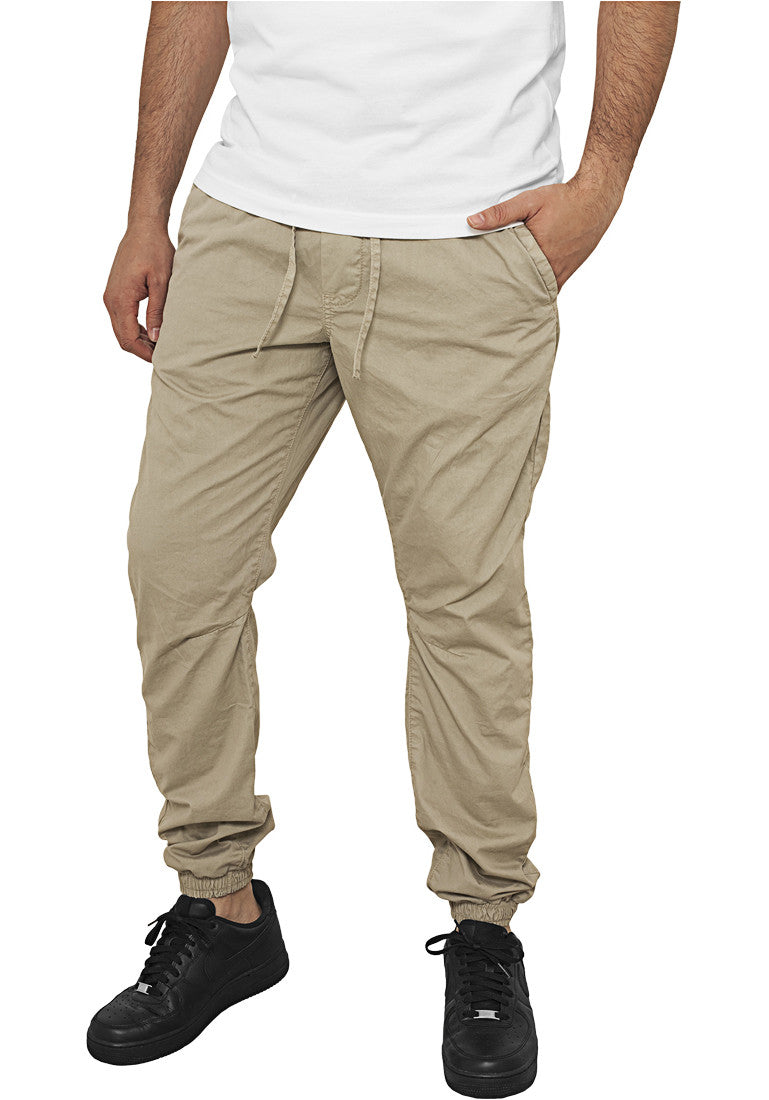 Cotton Twill Jogging Pants TB1017 Brown