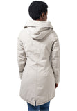 Ladies Garment Washed Long Parka TB1088 Beige