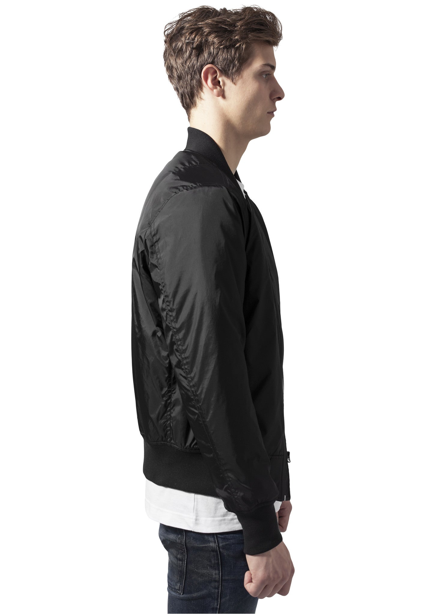 Tech Zip Bomber Jacket TB1165 Black